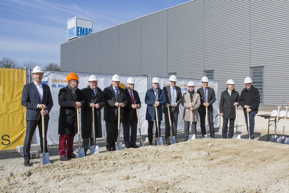 EMAG builds a new production and office facility in Salach.