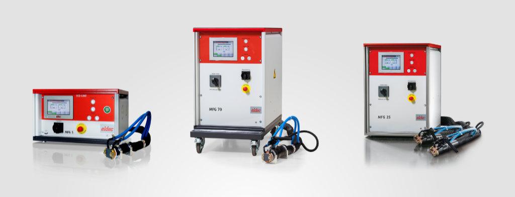 Generators from eldec for induction heating