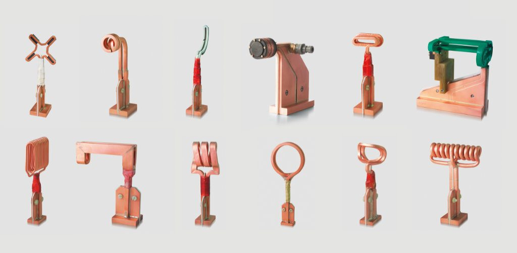 The geometry of the inductors is as varied as the parts to be made with them.