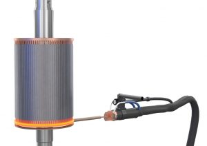 Induction brazing of copper profiles