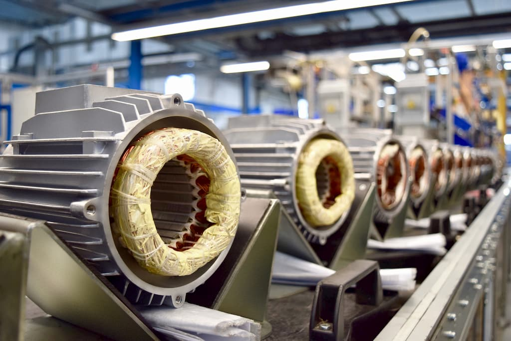 250 fan motors are produced every day