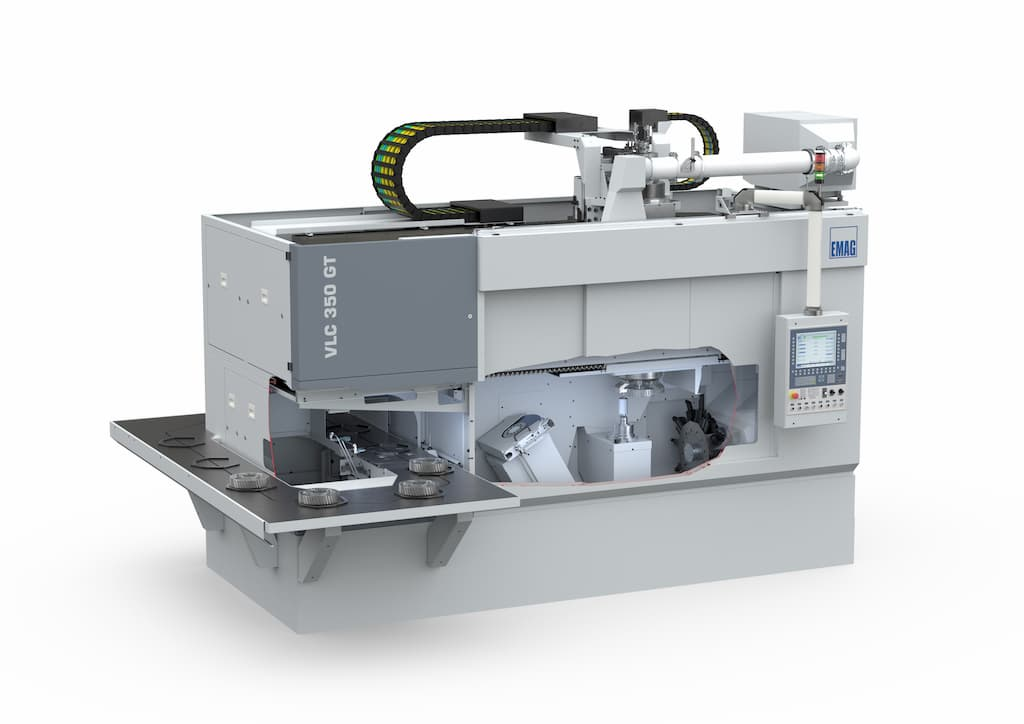 VLC 350 GT turning/grinding machine—Large machining area for several grinding spindles
