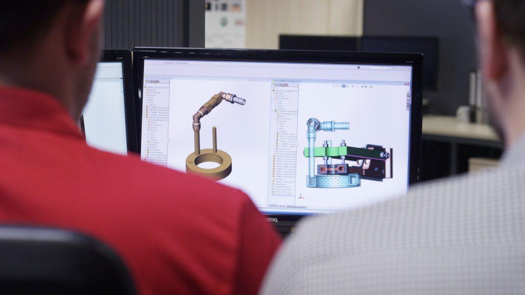 Der Induktor wird individuell am Computer entwickelt.