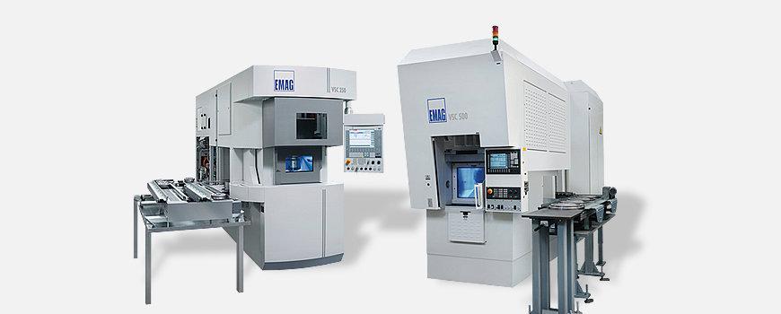 Jede CNC-Drehmaschine der VSC-Baureihe ist eine Fertigungszelle.